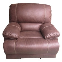 Used Bonded Leather Recliner Sofa Set & Single Recliner