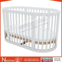 Cubby Plan LMBC-080 New Functional Bed Wooden Baby Round Cot
