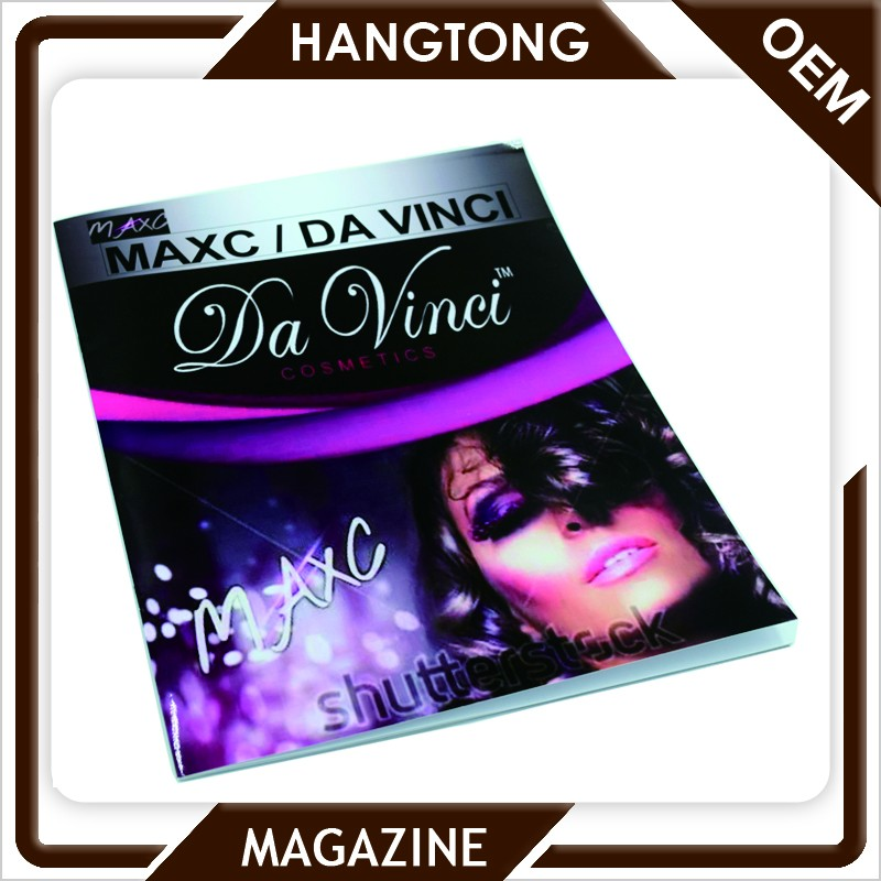 2016 low cost fashion small quantity shrink wrapping magazine printing