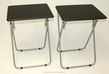 eHemco Set of 2 Folding Tv Trays Tv Tables - Black Tops