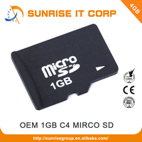 Wholesale OEM class4 mobile phone 1gb sd memory card