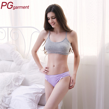 Fashion breathable transparent lace sleek contrast color ice silk teen ladies sexy transparent seamless underwear