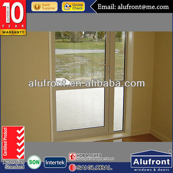High quality Australia standard AS2047 standard double glass wooden color groove design aluminum casement door