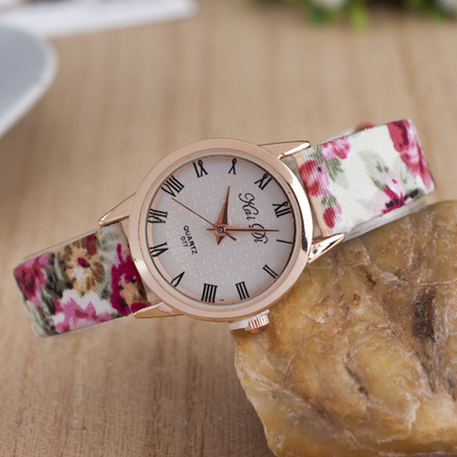 2015 new products fashion elk deer print dial leather watch from china supplier