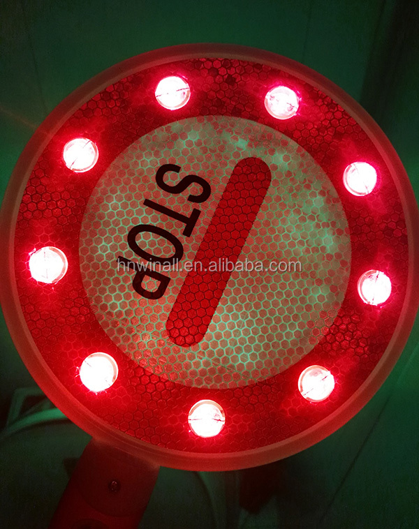 Rechargeable reflective traffic signal road signs led stop and go light