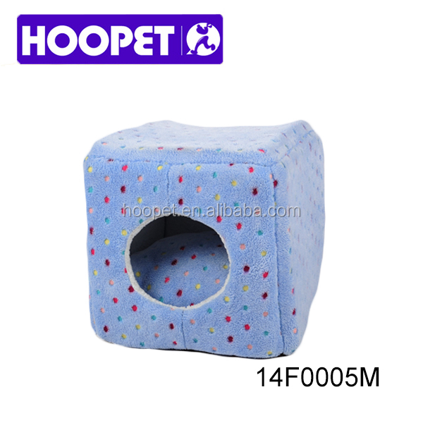 Polka dot pattern magic box cubic luxury dog kennel cat house dog beds