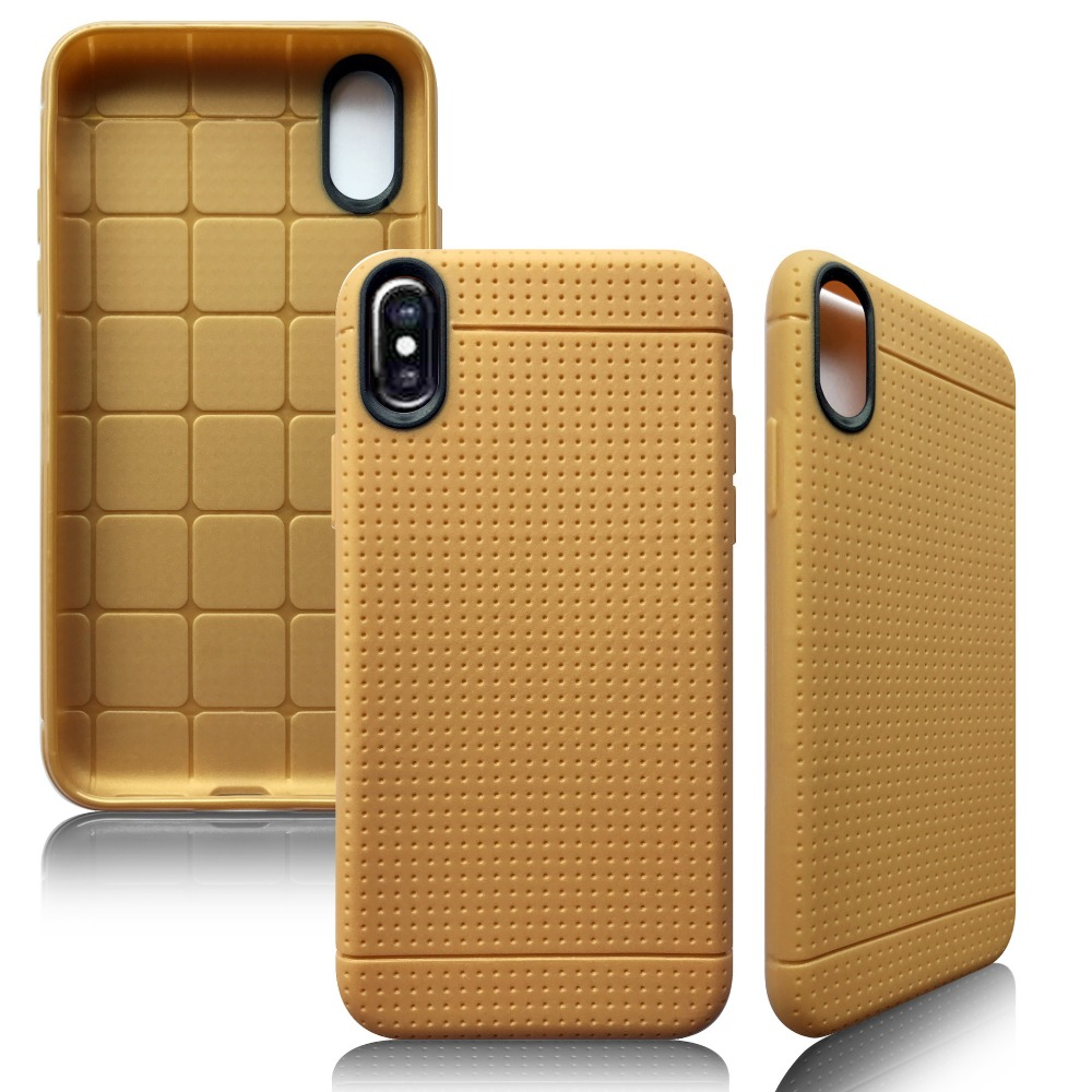 Soft Slim TPU Hard PC Armor Case Net Dotted Cover For iphone X , For i Phone X Phone Case