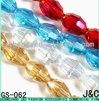 6mm all kinds of color rice shaped glass beads
