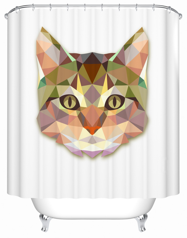 Shower curtains animal color changing shower curtain