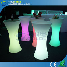 LED Table with LED bench chair GLACS/Music/Linght control