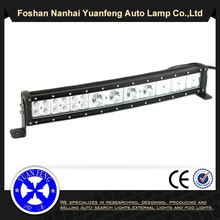 Waterproof off road LED light bar wholesale car curved led light bar double illumination 4D LED light bar