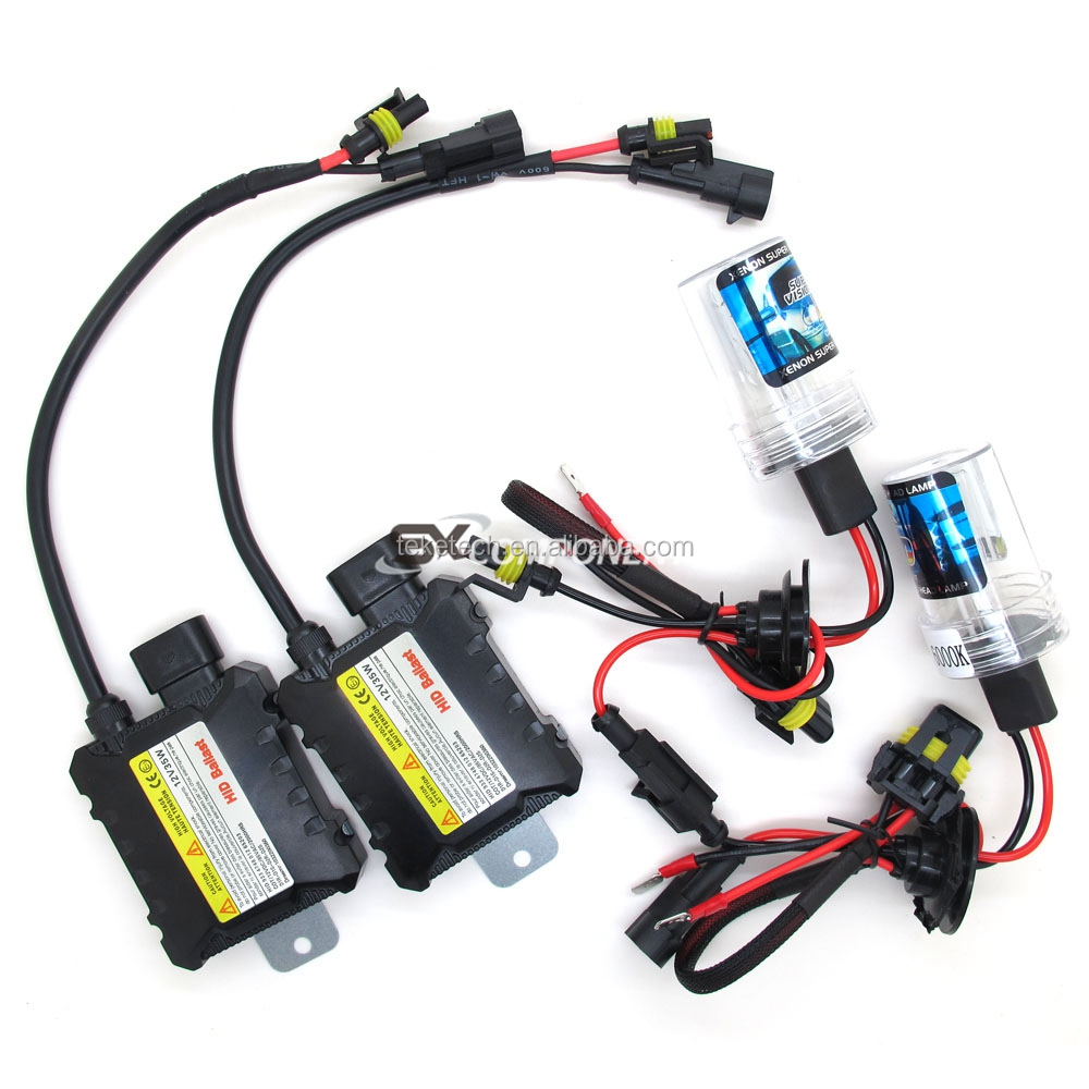 35W 55W 12V Xenon Light Bulb Car Headlight H1 H3 H7 H11 9005 9006 4300k 5000k 6000k 8000k  Slim Xenon Headlamp Kit hid ballast