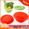 wholesale microwave safe collapsible silicone bowls and flexible silicone collapsible bowl set of 2
