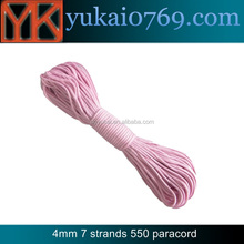 Yukai 550 paracord 31m/polyester braided paracord rope 4mm 550 cord