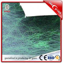 crumpled green color PU synthetic leather price for sofa