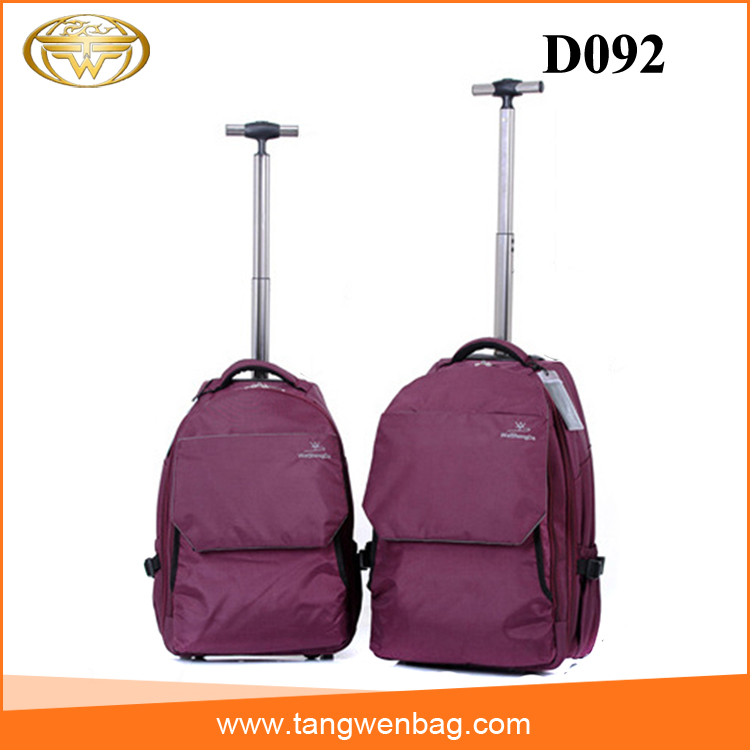 Promotion factory business detachable strong bagslaptop backpack with trolley