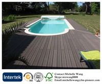 Weather resistant wood plastic composite flooring, outdoor flooring, outdoor deck floor covering