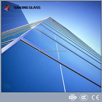 Laminated glass for interior glass wall decorative paneling