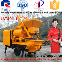 Pully twin shaft JBT40-L1 stationary concrete mixer pump price for sale