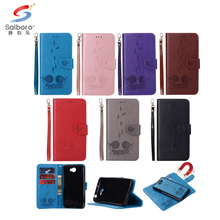 Shock proof TPU+Leather case Embossing wallet leather phone case for Samsung case with pretty bird