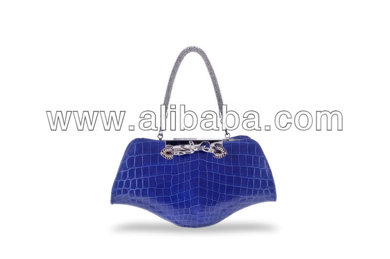 Real Crocodile Evening Handbag Made in Italy