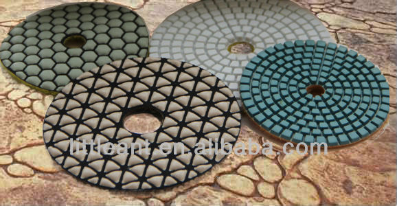 Diamond Polishing Pads/Hand Grinder Polishing Disk Dry or Wet Use