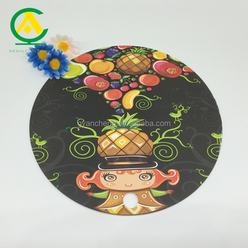Heat Resistant Silicone Round Table Placemat /Pot Holder/ Coaster