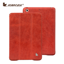 Where to Buy Case for iPad Mini 2 in Red Color Genuine Leather Case with High Quality Retail Packaging
