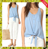 Hotsale custom summer sexy women tops blouse,picture of girls sleeveless cotton tops
