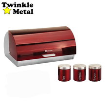 Coffee canister tea canister bread bin set