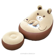 New design Hot sale promotional stocking product inflatable neck pillow bear sofa chair set for living room