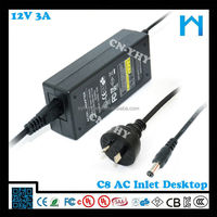 120v ac 60hz adapter 12v 3a/shenzhen yhy power supply co ltd 12v 3a/the adaptor