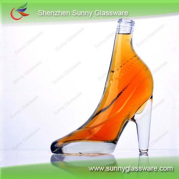 High-heeled shoes shape glass wine bottle sgcst001