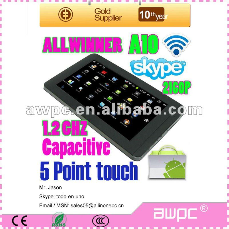 low price 7inch android4.0 Allwinner Boxchip <strong>A10</strong> <strong>tablet</strong> <strong>pc</strong>