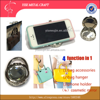 Big White Gem Multifunctional Clamshell Holder for Bag Handbag Purse Mobllie Phone Desk Cell Phone Smartphone Table