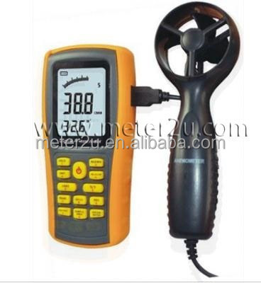 China wind speed anemometer air flow meter USB function