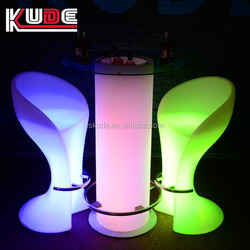 Illuminated bar table/ led round outdoor table/ bar counter furniture sets