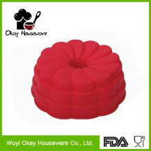 Silicone Flower hollow cake mould BK-S0033