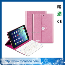 360 rotation bluetooth keyboard case for ipad mini