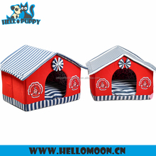 2016 Hot Selling Navy Stripe Roof House HELLOPUPPY Dog Kennel Wholesale