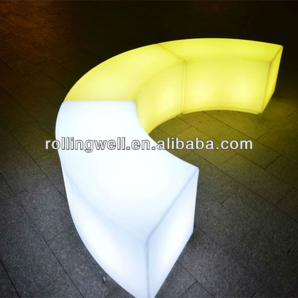 led light bench living room floor seating /other living room furniture plastic sofa bench corner