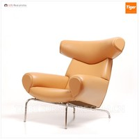 Living room luxury modern leather OX chairs