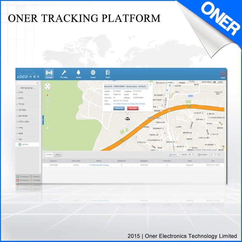 GPS vehicle tracking system fuel monitoring tracking system