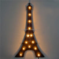 Eiffel Tower Marquee Letter Decorative Lights/Novel Marquee Letter Eiffel Tower Light Special Decoration Light