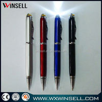colorful blink touch screen pen metal clip-metal torch pen
