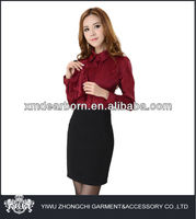 burgundy formal women wear