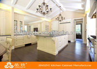 Full set customized commercial kitchen island solid wood kitchen cabinet made in China