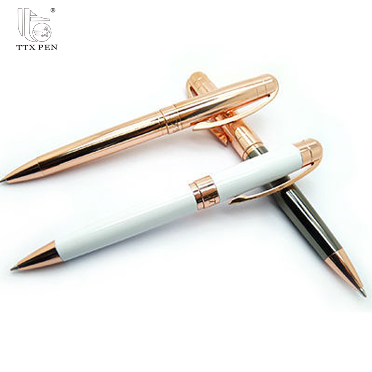 Best Selling Rose Gold Metal Ball Point Pen with Custom Logo