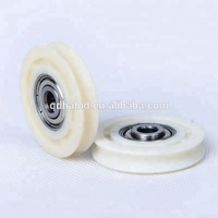 plastic injected oval/flat/U groove roller for sliding window door roller