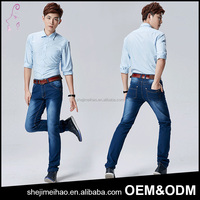 Wholesale Price In Stock Items European Style Middle Waist Boyfriend Denim Jeans Mens Skinny Jeans